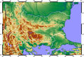 Topographic Map of Bulgaria - Mapsof.Net Map