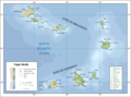 Topographic Map of Cape Verde - Mapsof.Net Map