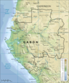 Topographic Map of Gabon - Mapsof.Net Map
