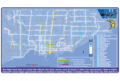 Toronto Blue Night Network Map - Mapsof.Net Map