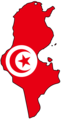 Tunisia Flag Map - Mapsof.Net Map