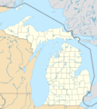 Usa Michigan Location Map - Mapsof.net