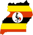 Uganda Flag Map - Mapsof.Net Map