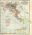 Unification of Italy 1815 1870 - Mapsof.Net Map