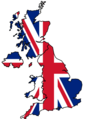 United Kingdom Flag Map - Mapsof.Net Map