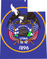 Utah Flag Map - Mapsof.Net Map