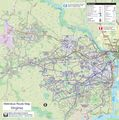 Virginia Metrobus Map - Mapsof.Net Map