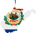 West Virginia Flag Map - Mapsof.Net Map