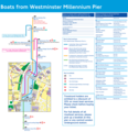 Westminster Pier Route Map - Mapsof.Net Map