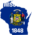 Wisconsin Flag Map - Mapsof.Net Map