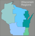 Wisconsin Regions Map - Mapsof.Net Map