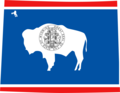 Wyoming Flag Map - Mapsof.net