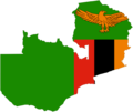 Zambia Flag Map - Mapsof.Net Map