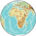 Africa Physical Map Globe - Mapsof.Net Map