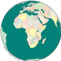 Africa Simple Map Globe - Mapsof.Net Map