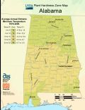 Alabama Plant Hardiness Zone Map - Mapsof.Net Map