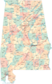 Alabama Road Map - Mapsof.Net Map