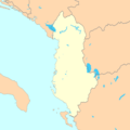Albania Map Blank - Mapsof.Net Map