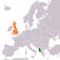 Albania United Kingdom Locator - Mapsof.net