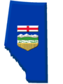 Alberta Flag Contour - Mapsof.Net Map
