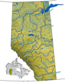 Alberta Rivers - Mapsof.Net Map