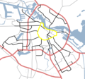 Amsterdam Outline S Roads  S100 - Mapsof.net