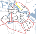 Amsterdam Outline S Roads  S118 - Mapsof.net