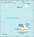 Antigua And Barbuda Cia Wfb Map - Mapsof.Net Map