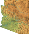 Arizona Physical Map - Mapsof.Net Map
