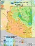 Arizona Plant Hardiness Zone Map - Mapsof.Net Map