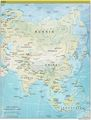 Asia Continent Physical Map - Mapsof.Net Map