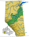 Athabasca Watershed - Mapsof.Net Map