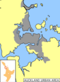 Auckland Urban Area - Mapsof.Net Map