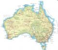 Australia With Roads And Cities - Mapsof.Net Map