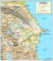 Azerbaijan Relief 2004 - Mapsof.Net Map