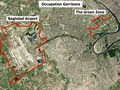 Baghdad  Airport And Green Zone - Mapsof.Net Map