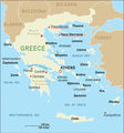 Basic Greek Map - Mapsof.Net Map