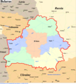 Belarus Political Map - Mapsof.Net Map