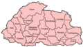 Bhutan Districts English - Mapsof.net