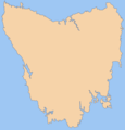 Blank Map of Tasmania - Mapsof.net