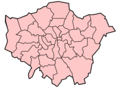 Boroughs Blank Map of London - Mapsof.net