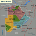 Botswana Map 1 - Mapsof.Net Map