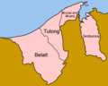 Brunei Districts English - Mapsof.net
