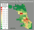 Chicago Violent Crime Map - Mapsof.Net Map