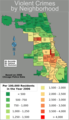 Chicago Violent Crime Map 2006 - Mapsof.Net Map