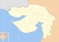 Cities Blank Map of Gujarat - Mapsof.Net Map