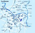 City Center Map Lucknow - Mapsof.Net Map