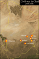 Civil War In Chad - Mapsof.Net Map