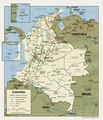 Colombia Political Map 2001 - Mapsof.Net Map