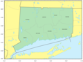 Counties Map of Connecticut - Mapsof.Net Map